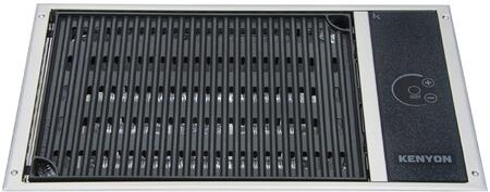 B70061 21 inch  Built-In No Lid Electric Grill with 240 Volts  155 sq. in. Cooking Area  1 Burner  Marine Compatible  and 7 Minute Preheat  in Stainless