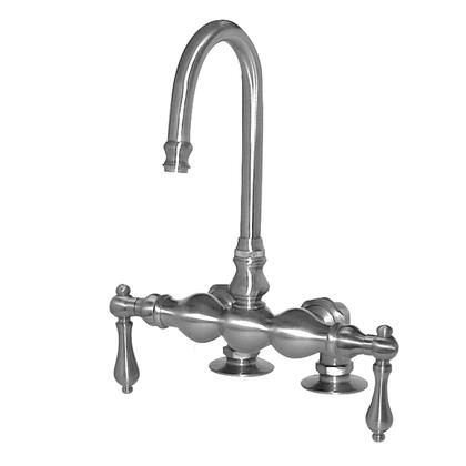 F300A-SN 300 Series Bathtub Faucet  2 inch  Mounting Risers & 2 Metal Lever Handle: Satin