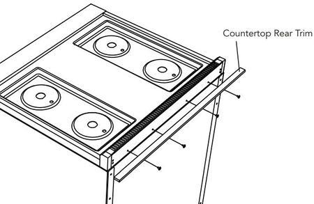 "P60CRTSS 60"" Countertop Rear"