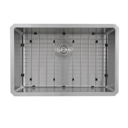 Pro Series SR2818-16 Rectangle Single Bowl Undermount Small Radius Corners Stainless Steel Kitchen Sink  16