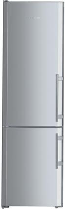 "CS1360L 24"" Left Hinge Energy Star Bottom Freezer Refrigerator with 13 cu. ft. Capacity  SuperCool  SuperFrost  FrostSafe  NoFrost  and Ice Maker  in Stainless"