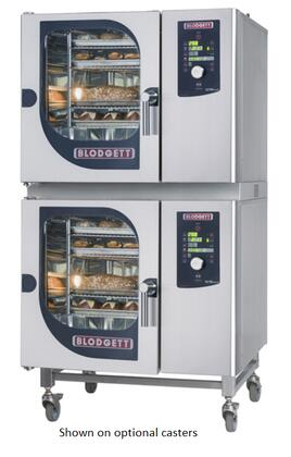 BLCM6161G Double Stack Gas Boilerless Combination-Oven/Steamer with Dial and Digital controls  Reversible 9 speed fan  Up to 50 recipe programs with 10 cooking