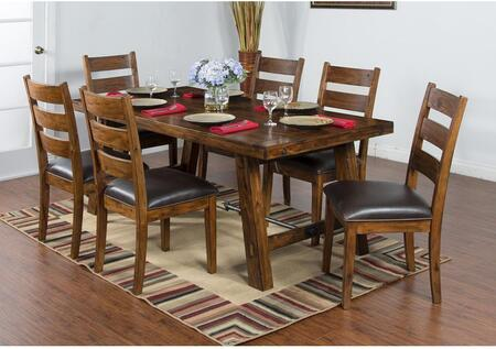 Tuscany Collection 1367VMDT6C 7-Piece Dining Room Set with Dining Table and 6 Chairs in Vintage Mocha