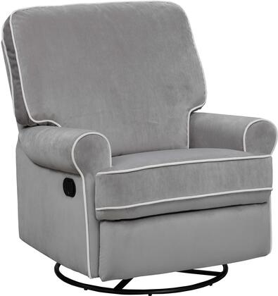 DS-913-006-576 Birch Hill Swivel Glider Recliner with Sinuous Spring  Drop-In Pocketed Coils  Padded Back and Arms in Luxor