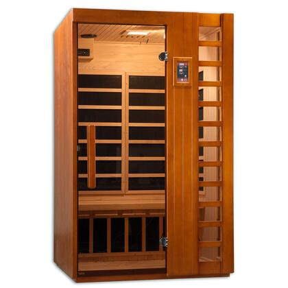 GDI-6264-01 77 inch  Near Zero EMF Far Infrared Sauna with 2 Person Capacity  6 Carbon Heating Elements and Radio with CD and MP3 Auxiliary