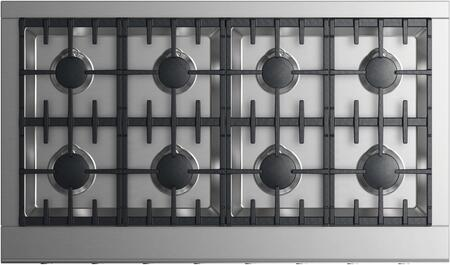 Fisher Paykel CPV2488NN Professional Series 48 Inch Natural Gas Rangetop with 8 Sealed Burners, Cast Iron Grates in Stainless Steel