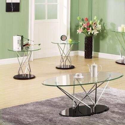 80750 Ronli 3Pc Pk Coffee/End Table Set  Chrome &