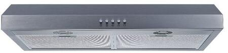 W108C30 30 inch  Under Cabinet Range Hood with 250 CFM  Convertible Ducting  in Stainless