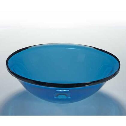 V245 Wells V245 17.5 inch Sheer Color Azure Glass Vessel