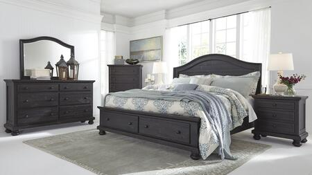 Sharlowe Queen Bedroom Set With Storage Bed  Dresser  Mirror  Chest And 2 Nightstands In