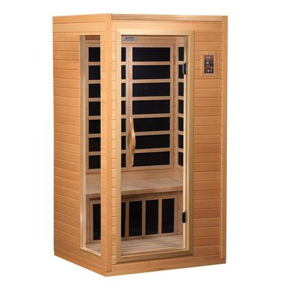 GDI-3106-01 73 inch  Low EMF Far Infrared Sauna with 1-2 Person Capacity  6 Carbon Heating Elements  Interior and Exterior LED Control Panel  2 Dynamic Speakers and