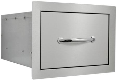 SOSD10X15 Built In Stainless Steel Drawer with Flat Frame  Flush Mount and Self Rimming