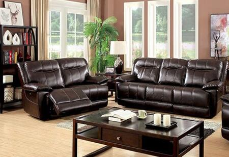 Dolton Collection CM6128BR-SL-PM 2-Piece Living Room Set with Motion Sofa and Motion Loveseat in