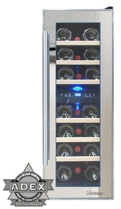 Vinotemp VT21TSP2Z3A 21-Bottle Dual-Zone Thermoelectric Mirrored Wine Cooler
