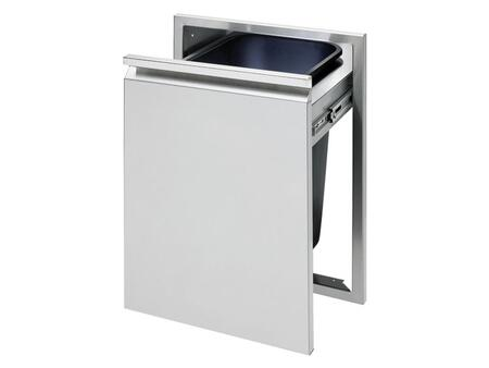 TETD18T-B Tall Trash Drawer with Large Capacity Trash Can  Flush Hi-polished Handle and Stainless Steel