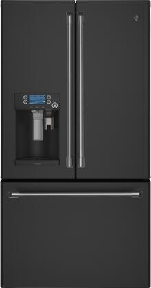 CYE22UELDS 36 inch  Smart French Door Refrigerator with 22.2 cu. ft. Capacity  Hot Waster Dispenser  Precise Fill  TwinChill Evaporators  in Black