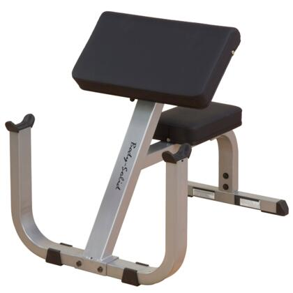 GPCB329 Body Solid Preacher Curl Bench with DuraFirm Padding and Extra-Wide