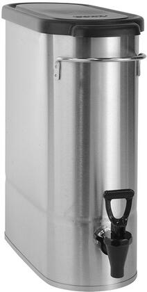 396000065 Oval Style Narrow Low Profile Iced Tea and Coffee Dispenser with 3.5 Gallons Capacity  Lid  Front - Back Handles  Full-Color Iced Tea Decal and Sump