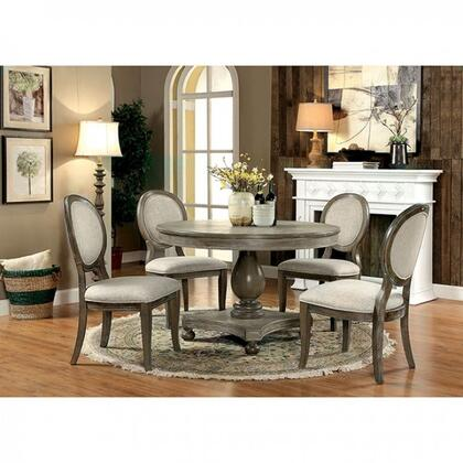 Siobhan Collection CM3872RTDT4SC 5-Piece Dining Room Set with 60