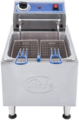 PF16E Electric Countertop Fryer with 16 lb. Oil Capacity  Nickel-Plated Baskets  and Adjustable Feet in Stainless