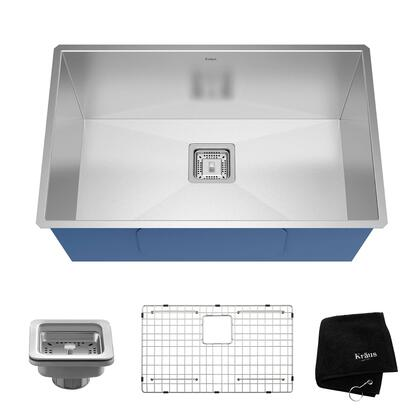 KHU29 Pax Series 29 inch  Zero-Radius Bar/Prep Sink with Stainless Steel Construction  NoiseDefend  and Deep Sink