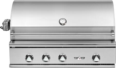 DHBQ38RS-CL 38 inch  Built-In Premier Outdoor Liquid Propane Grill with 304 Stainless Steel Construction  1 Sear Burner  2 Stainless Steel U-burners  625 sq. in.