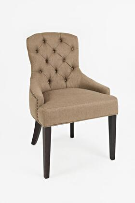 Easy Living Pierce Collection PIERCE-CH-CHESTNUT 20 inch  Accent Chair with Nail Head Trim  Dark Arabica Tapered Legs  Stain Resistant and Fabric Upholstery in