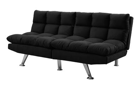 "I 8990 70"" Click Clack Futon with Split Back  Angled Chrome Legs and Micro-Suede Upholstery in"