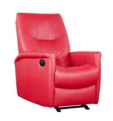 D86999MPP17 Red Powered Reclining Glider - Bonded