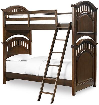 Expedition 84687303132 Twin Size Bunk Bed with Ladder  High/Low Rail Locking Positions  Double Bolted  Selected Veneers and Hardwood Solids Construction in