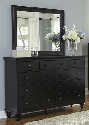 Hamilton Iii Collection 441-br-dm 2-piece Bedroom Set With Dresser And Mirror In Black
