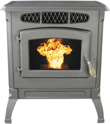 SP4000PB 42 000 BTU Classic Cast Black Pellet Stove with Hot Rod Automatic Firestarter Digital One-Shot Control Included Brick Panels and Four Heat