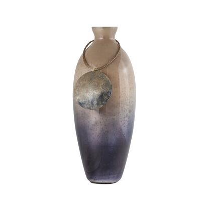 Vase Cuzco Collection 8468-075 16 inch  Vase/Urn with Glass Material in Fire Clay