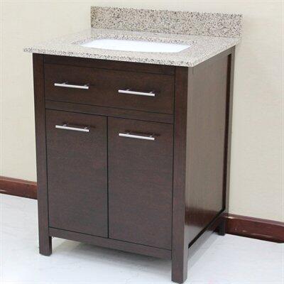 WF6730-28/DC Single Sink Wood Vanity With Granite Top and