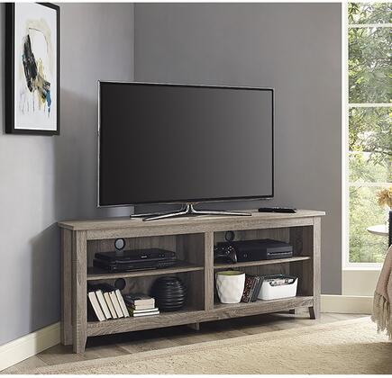 "W58CCRAG 58"" Wood TV Media Stand Storage Console -"