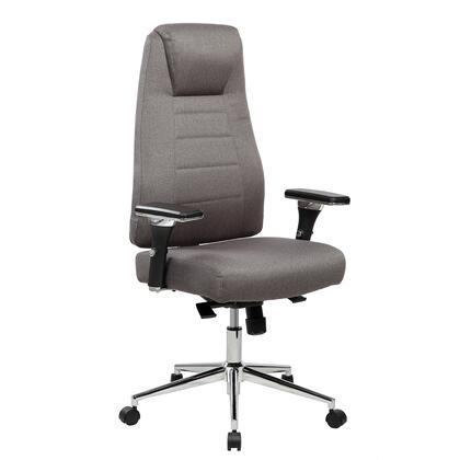 RTA-5002-GRY Comfy Height Adjustable Home Office Chair with