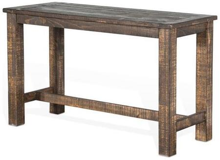 Reno Collection 1039TL-36 60 inch  Counter Height Table with Planked Top  New Zealand Pine Construction and Hand-Sawn Distressing in Tobacco