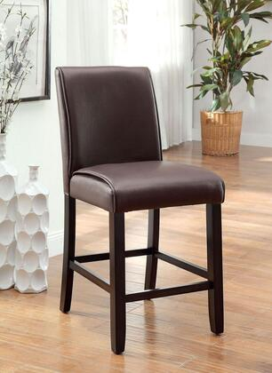 Gladstone II Collection CM3823PC-2PK Set of 2 Counter Height Chair with Tapered Legs and Leatherette Upholstery in Dark