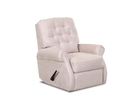Virgo Collection 46703H-RRC-MO 35 inch  Rocking Reclining Chair with Rolled Arms  Welted Trim Detail and Button Tufted Back Cushion in Microsuede