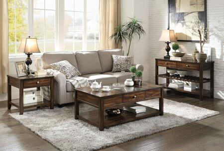 Cilnia Collection 83020CSE 3 PC Living Room Table Set with 50