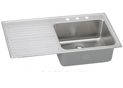 ILGR4322R5 Drop In Single Bowl Kitchen Sink: Stainless