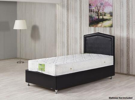 CARESTBETWBL Twin Size Casa Rest Storage Bed with Hydraulic Lift System and Europen-style Mattress Support System in Dragon Black