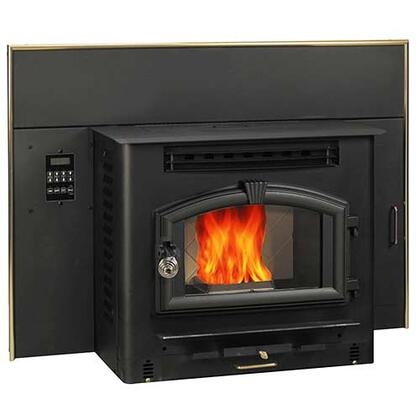 6041I 60 lbs Hopper Capacity Multi Fuel Stove Insert with Large Viewing Window Air Wash Glass and