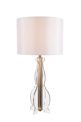 Louise 32751CLR Table Lamp with 3-Way Socket Switch  14.5