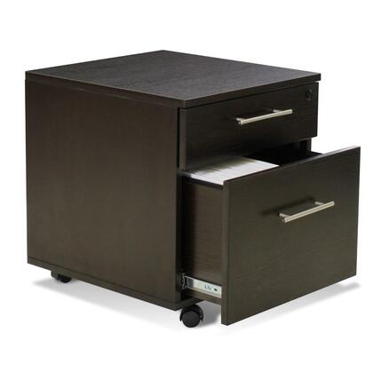 "100 Collection 118202-ESP 20"" Mobile Pedestal Filing Cabinet with 2 Drawers  Non Scratch Surface  Central Locking System  Legal and Letter Size Filing in"