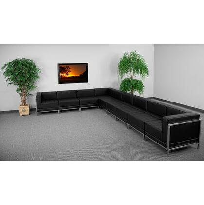 ZB-IMAG-SECT-SET3-GG HERCULES Imagination Series Black Leather Sectional Configuration 9
