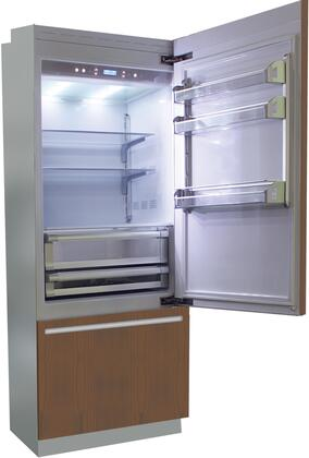 BI30BI-RO 30 inch  Brilliance Series Built In Bottom Freezer Refrigerator with TriMode  TotalNoFrost  3 Evenlift Shelves  Door Storage and LED Lighting: Panel Ready