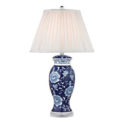 D2474 Hand Painted Ceramic Table Lamp In Blue And White With Acrylic