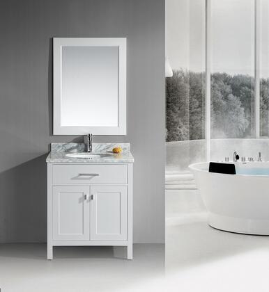 DEC076E-W London 30 inch  Single Sink Vanity Set in