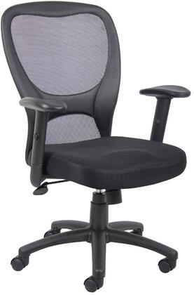 "B6508 39"" Task Chair with Mesh Back and Seat  Gas Lift Height Adjustment  Adjustable Tilt Tension Control  25"" Nylon Base  Hooded Double Wheel Casters"